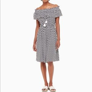 Kate Spade New York // arrow stripe rayon dress